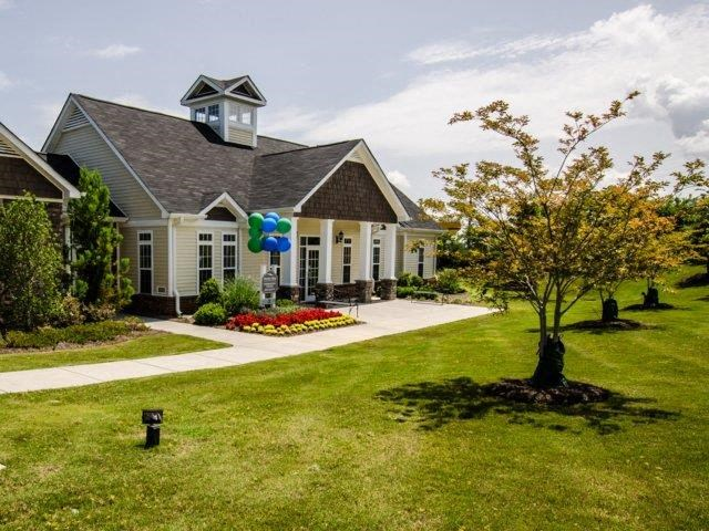 Clubhouse Entrance at Bromley Village Apartments, South Carolina