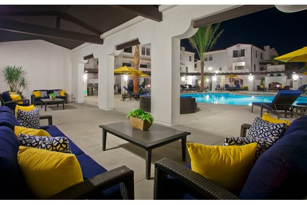 Paseos Ontario Apartments - Pool Night