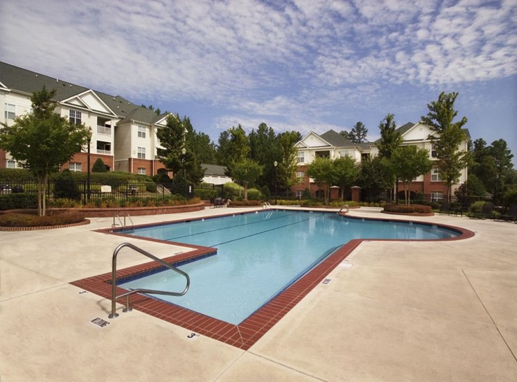Daytime pool at Falls Pointe Apartments 100 Cascade Falls Ln Durham NC 27713