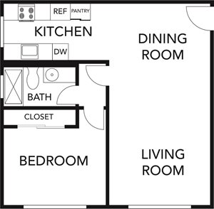 One Bed One Bath- B