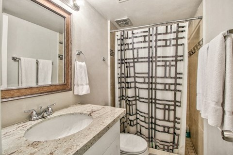 Bathroom at The Willow Apartments in Phoenix, AZ