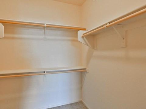 Unfurnished walk in closet