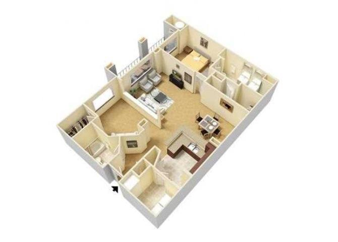 Light floor plan.