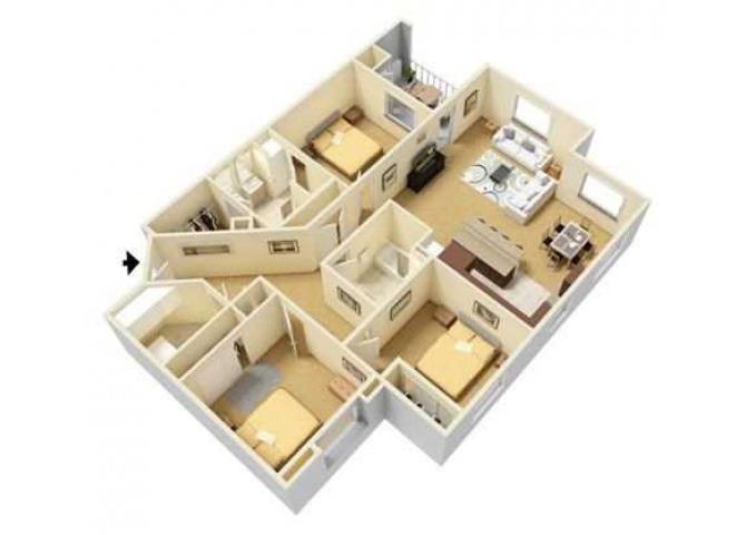 Zen floor plan.