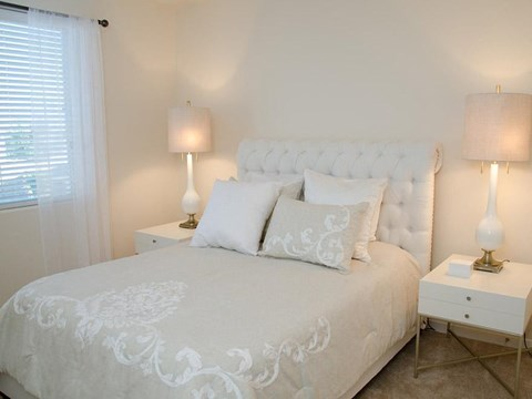 Model unit bed room