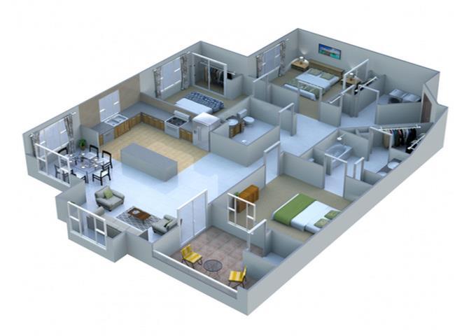 Graphite floor plan.