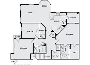 Sorrel Fairview| C4 Floor Plan 3 Bedroom 3 Bath