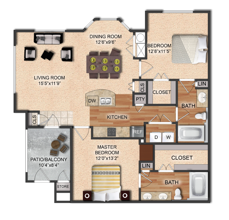 Floor Plans Of Hunter's Cove Apartments In Waxahachie, TX