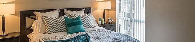 Bedroom Interior at Parc at 5 Apartments, Downey, CA, 90240