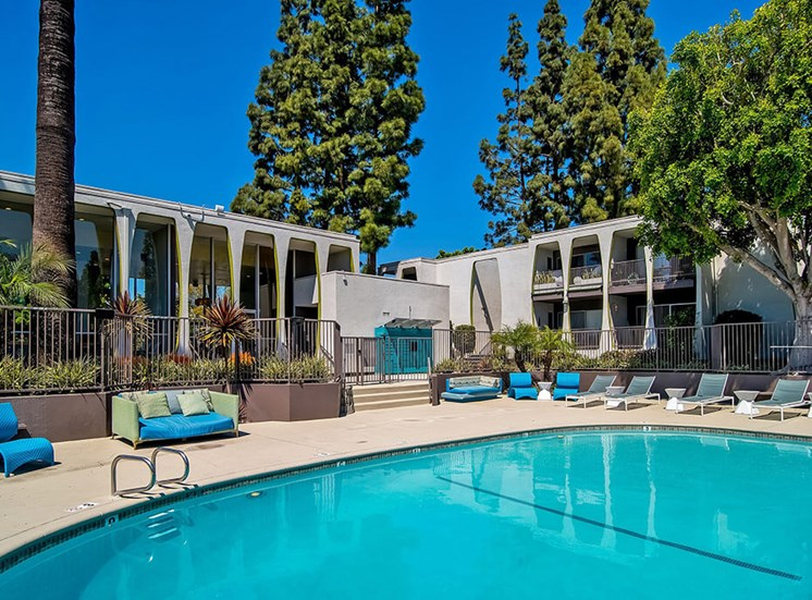 Swimming Pool Area at Parc at 5 Apartments, California, 90240