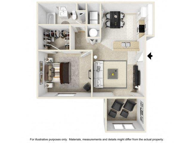 1 BEDROOM (SUNROOM OPTIONAL) Floor Plan 1