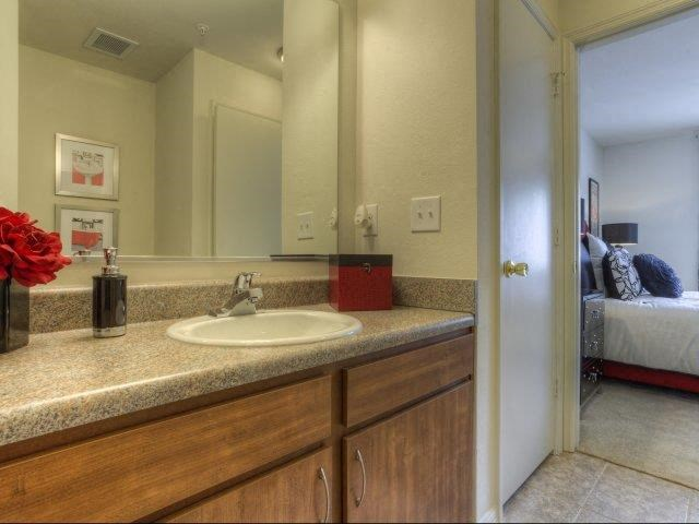 Designer Granite Countertops in all Bathrooms at Berrington Village Apartments, North Carolina, 28803