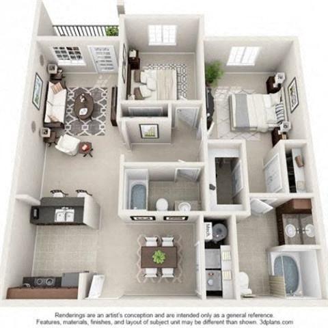 Sapphire Floor Plan at Amberton at Stonewater, Cary