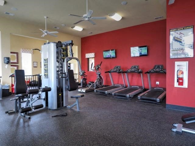 Fitness Center With Updated Equipment at Amberton at Stonewater, Cary