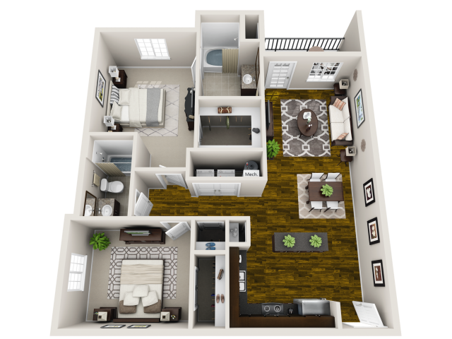 Harmony Floor Plan at Horizons at Steele Creek, North Carolina
