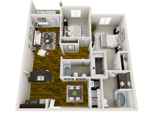Synergy Floor Plan at Horizons at Steele Creek, Charlotte, 28273