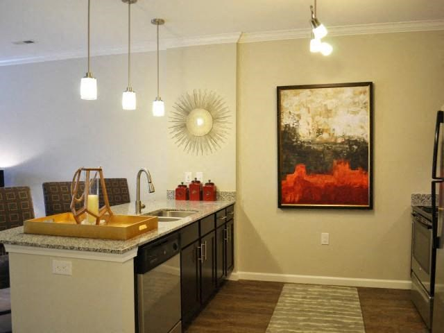 Chef Inspired Kitchen Islands with Chic Pendant Lighting at Horizons at Steele Creek, Charlotte, NC, 28273