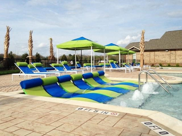 Swimming Pool with Lounge Chairs at Horizons at Steele Creek, Charlotte, 28273