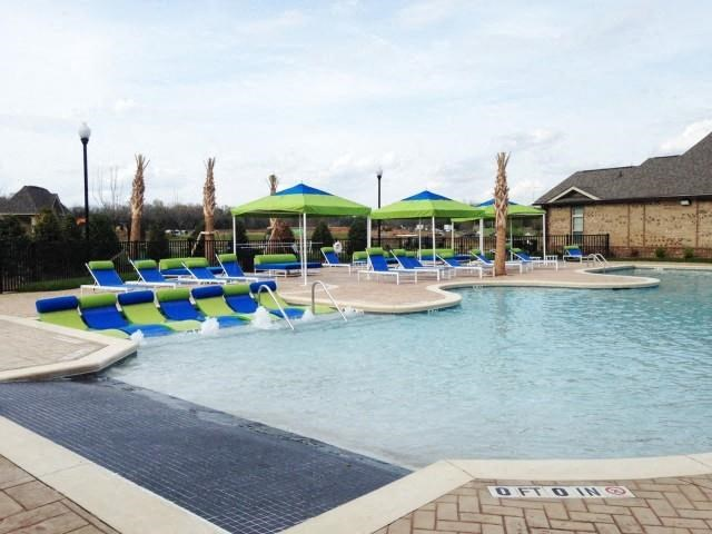 Pool Side Relaxing Area at Horizons at Steele Creek, Charlotte, North Carolina