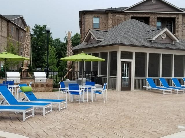 Resort-Inspired Pool Lounge Featuring a Salt Water Pool at Horizons at Steele Creek, Charlotte