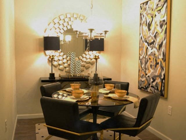 Dining Room Design at Horizons at Steele Creek, Charlotte, NC