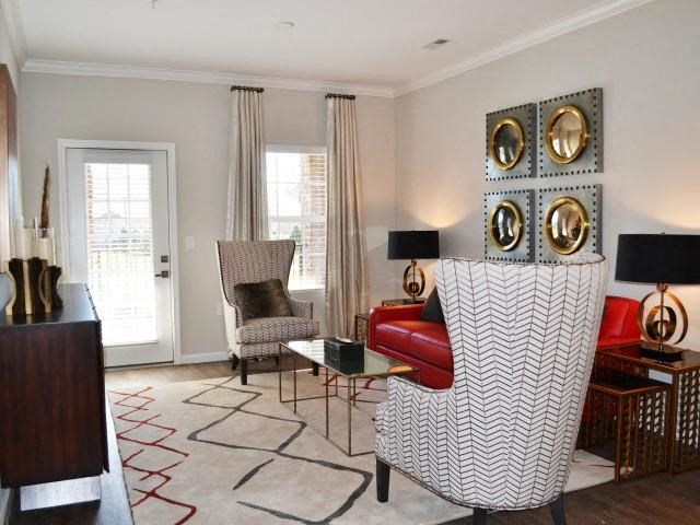 Unique Living Room Decor at Horizons at Steele Creek, Charlotte, 28273