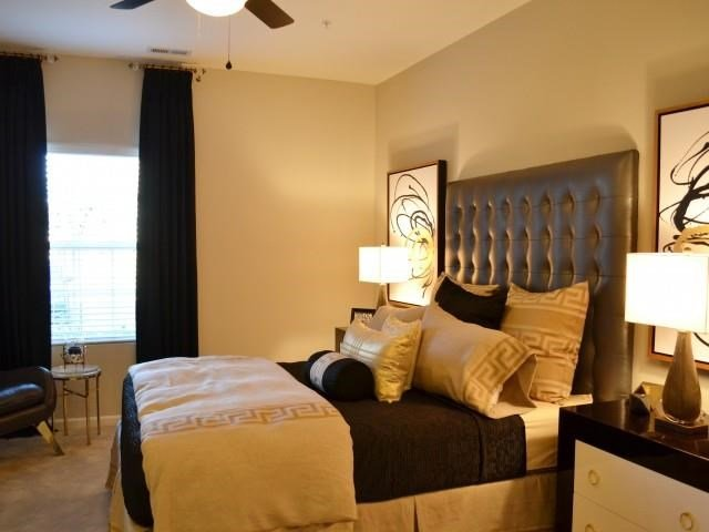Modern Bedroom Interior at Horizons at Steele Creek, Charlotte, 28273