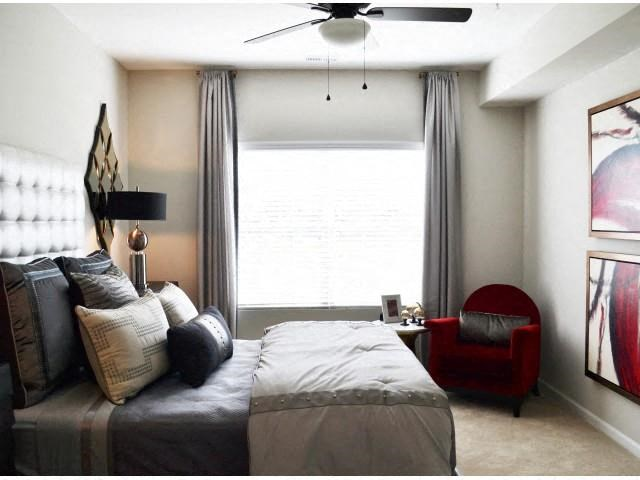 Upgraded Bedroom With Modern Furnishings at Horizons at Steele Creek, Charlotte, NC