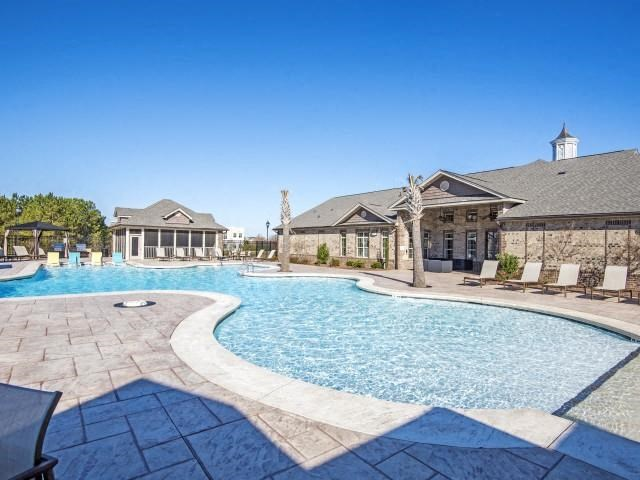 Resort-Style Zero-Entry Pool at Adeline at White Oak, Garner