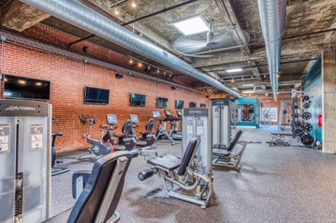 Fully Equipped Fitness Center at CityView Apartments, Greensboro