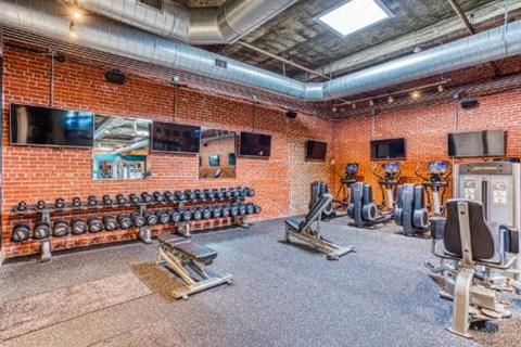 Modern Fitness Center at CityView Apartments, North Carolina