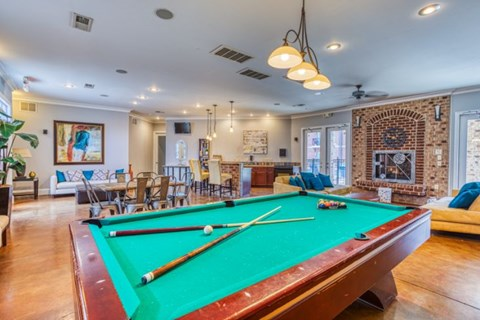 Billiards Table In Clubhouse at CityView Apartments, North Carolina