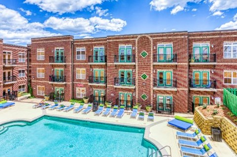 Swimming Pool With Relaxing Sundecks at CityView Apartments, Greensboro, North Carolina