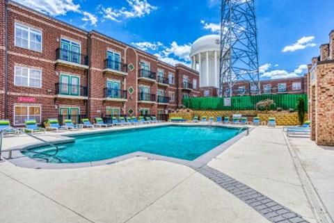 Relaxing Pool at CityView Apartments, North Carolina
