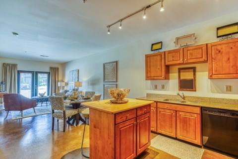 Well Equipped Kitchen And Dining at CityView Apartments, North Carolina