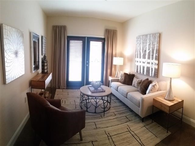 Contemporary Living Room at CityView Apartments, Greensboro