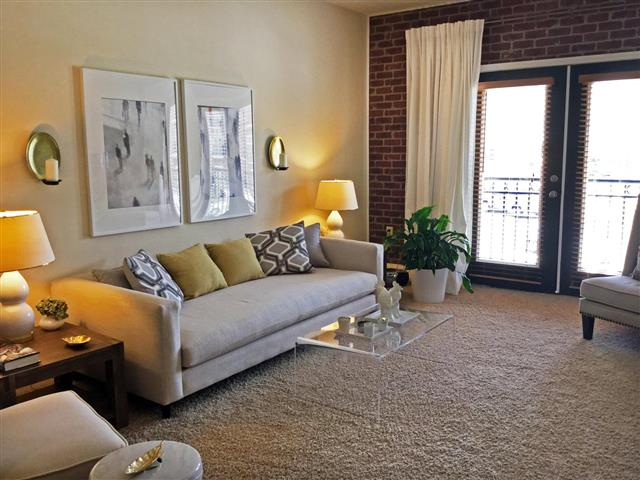 Classic Living Room Design at CityView Apartments, Greensboro, NC