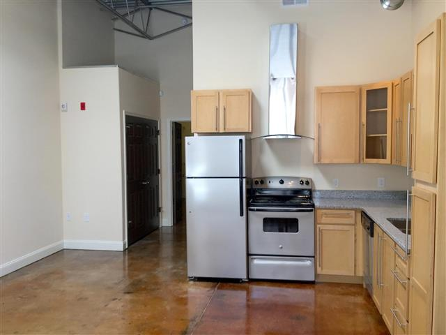 Spacious Kitchen with Pantry Cabinet at CityView Apartments, North Carolina