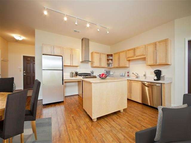Spacious Kitchen with Pantry Cabinet at CityView Apartments, Greensboro, 27406
