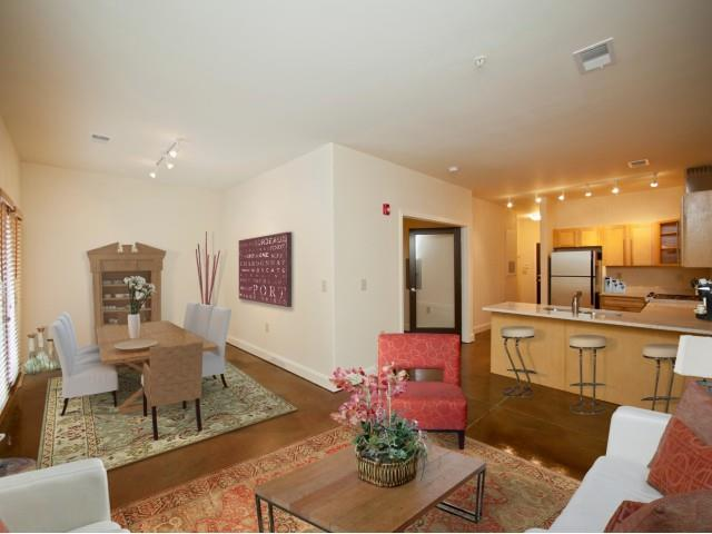 Trendy Living Room at CityView Apartments, Greensboro, 27406