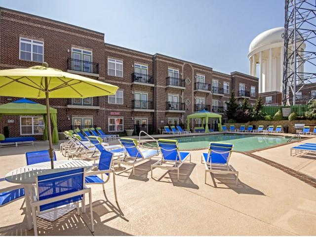 Resort-Style Pool at CityView Apartments, Greensboro, 27406