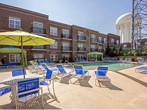 Resort-Style Pool at CityView Apartments, Greensboro, 27406