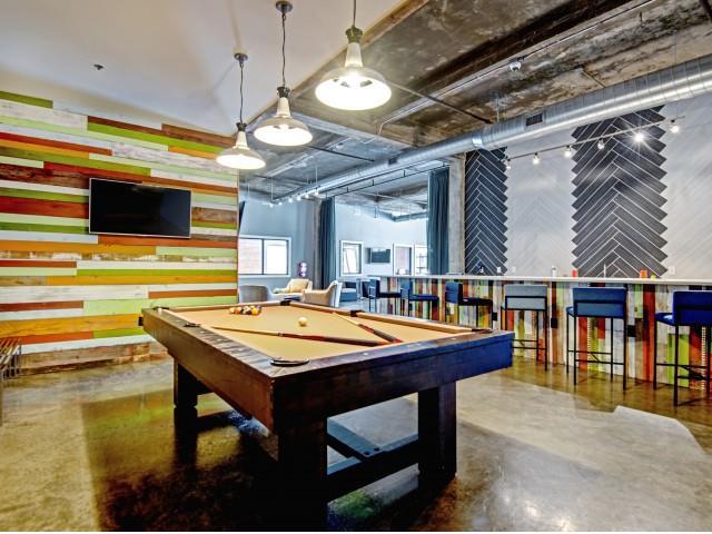 Billiard at CityView Apartments, North Carolina
