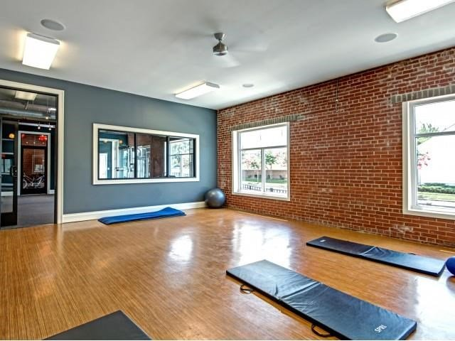 Yoga Studio with Flat Screen TV and Audio  at CityView Apartments, Greensboro, NC
