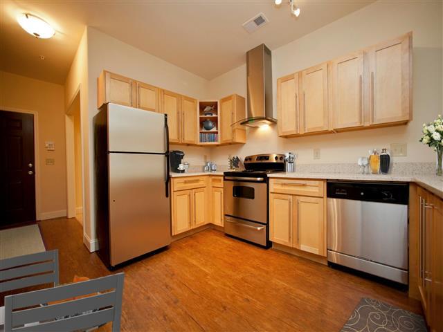All Electric Kitchen at CityView Apartments, Greensboro, North Carolina