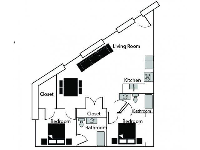 ACCOLADE Floor Plan at CityView Apartments, Greensboro, NC