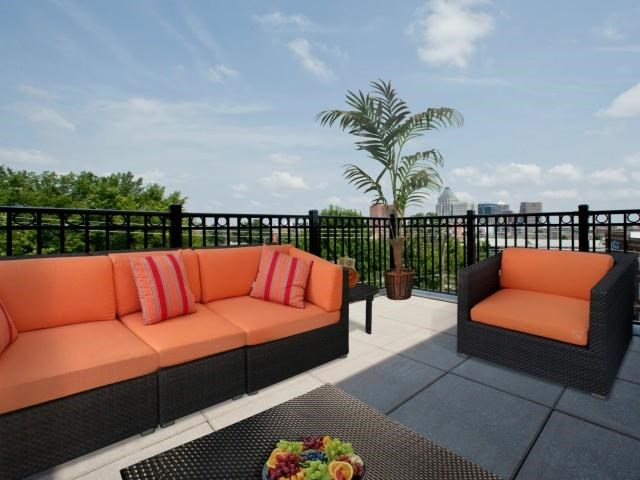 Open Air Relaxation Area at CityView Apartments, Greensboro, 27406