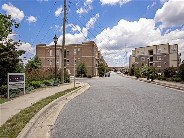 Front Entrance at CityView Apartments, Greensboro, 27406
