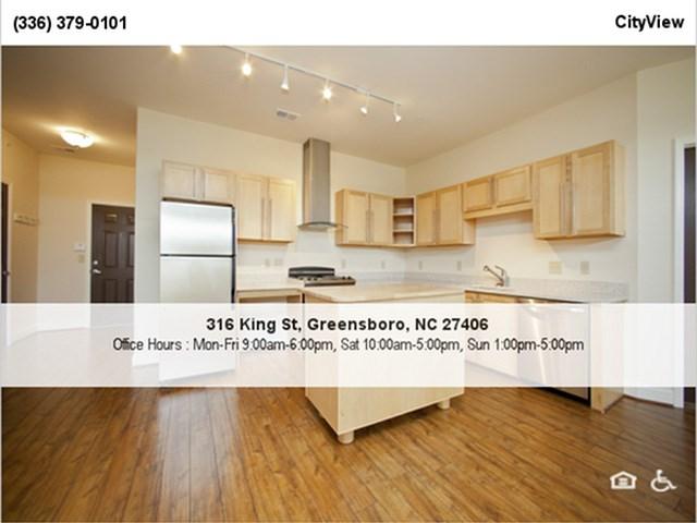 Hardwood Laminate Flooring at CityView Apartments, Greensboro, North Carolina