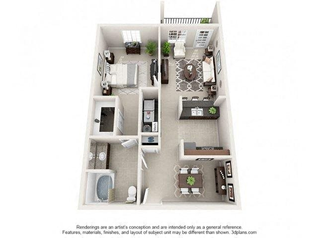 Preston Floor Plan at Innisbrook Village Apartments, North Carolina